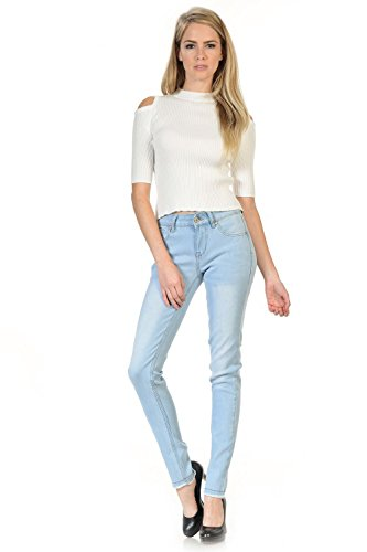 Sweet Look Premium Edition Women´s Jeans - Style N1234C - Light Blue - Size 07 (Light Blue Strech Jeans compare prices)