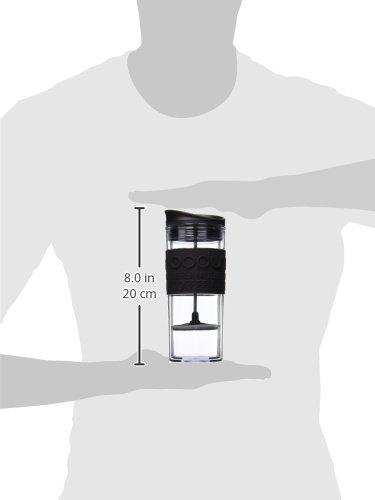 Bodum Insulated Plastic Travel French Press Coffee and Tea Mug
