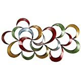 Colorful Abstract 3 Dimensional Metal Wall Art