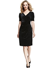 M&S Collection Pleated Sparkle Wrap Dress