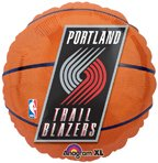 "Anagram International Portland Trail Blazers Flat Party Balloons, 18"", Multicolor"