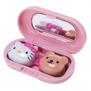Hello Kitty Soft Contact Lens Case: Pink