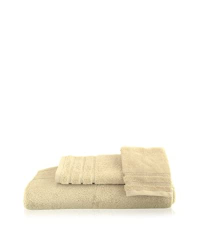 bambeco 3-Piece Organic Cotton 700 Gram Towel Set, Ivory As You See