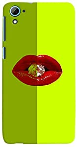 PrintVisa Hot Lips Diamond Case Cover for HTC Desire 826