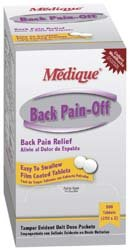 Medique 07333 Envelopes 50-2/Pk Back Pain-Off Tablets