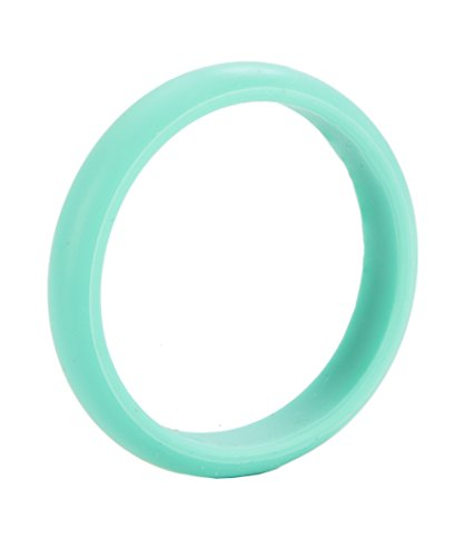 Chewbeads Jr. Skinny Charles Bangle Bracelet - Teething Jewelry - Turquoise - 1