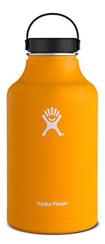 Hydro Flask 64 oz Vacuum Insulated Stainless Steel Water Bottle, Wide Mouth w/Flex Cap, Mango (True Flavor Ware compare prices)