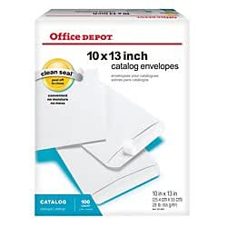 Office depot r brand clean seal tm catalog envelopes for Office depot shirt printing