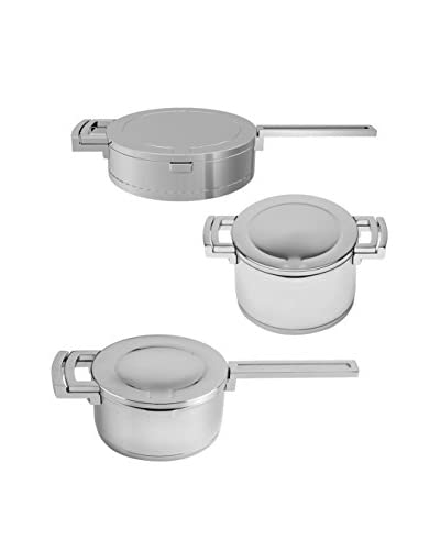 BergHOFF Neo 6-Piece Stainless Steel Cookware Set, Silver