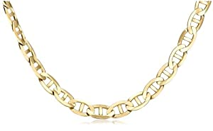 Men's 14k Yellow Gold 8.4mm Mariner Chain Necklace, 24