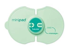 Beurer EM10 MASAJE - Mini electroestimulador cuerpo, 15 niveles intensidad, color verde