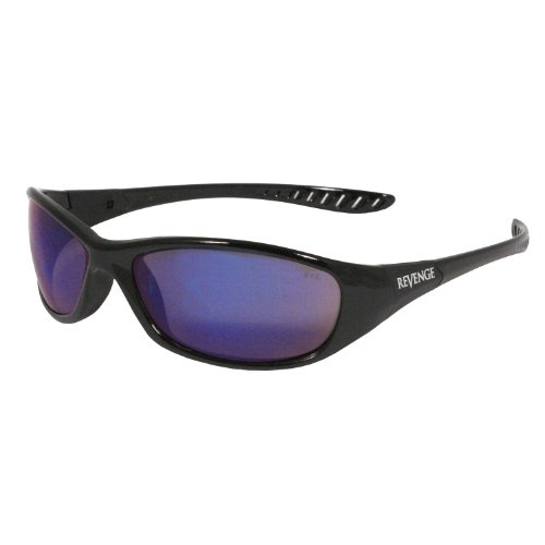 b76c025f6726 Deals For Radians RE1-70 Revenge Black Frame Glasses with Blue ...