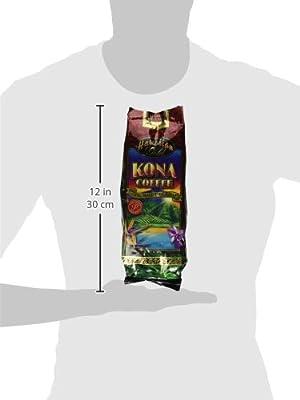 Hawaiian Gold Kona Coffee Gourmet Blend Coffee 1 Lb. Whole Beans