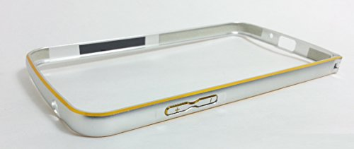 eShop24x7 SILVER GOLD DUAL COLOUR Slim 0.7mm Aluminium Metal Bumper Frame Case Cover with Hook for Samsung Galaxy Grand2 7102