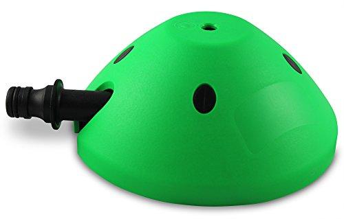 Rasensprenger zur Garten-Bewässerung | Bis zu 80m² Beregnungsfläche | Garten-Sprinkler für Kinder | Made in Germany (Grün)