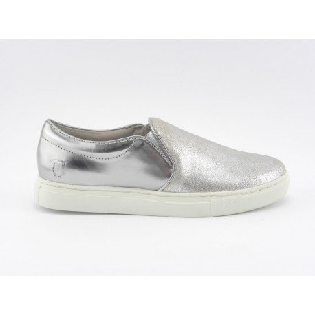 Trussardi Slip On Argento Donna Leather