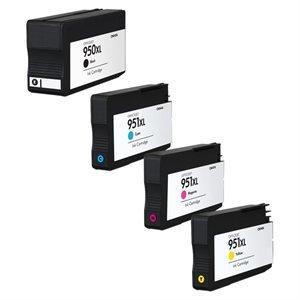 Kompatible Tintenpatronen HP 950XL / 951XL für HP Officejet Pro Drucker, Set mit 4 Patronen