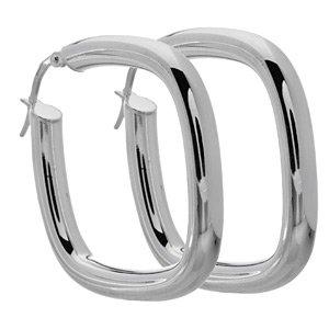 Italian Sterling Silver Cushion Earrings