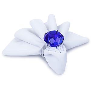Blue Diamond Ring Napkin Holder