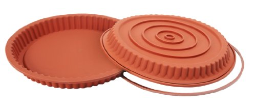 Silikomart SFT528/C Silicone Classic Collection German Tart Pan, 11-Inch