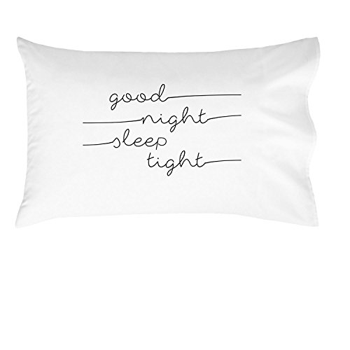 Oh, Susannah Good Night Sleep Tight Kids Pillowcase - 14x20.5 Inch Pillowcase Fits Toddler and Travel Size Pillow Insert