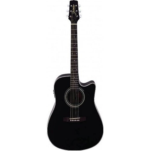 Takamine ES31C Jasmine Cutaway Acoustic Electric Guitar (Black)