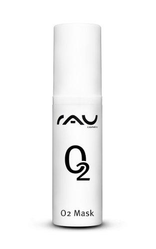 RAU O2 Mask 5 ml - Masque visage aloe vera, arnica et extrait de feuilles de Ginkgo biloba. Soin visage enrichi en oxygène, hydrate la peau et stimule la circulation sanguine. Masque hydratant à effet nourrissant et anti-âge!