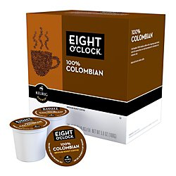 Eight O'clock(R) Colombian Coffee K-Cups(R), 0.4 Oz., Box Of 18