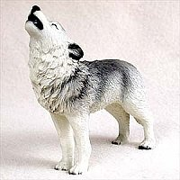 Wolf Figurine - Gray