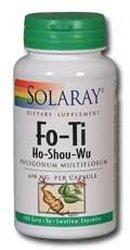 Solaray Fo-Ti Capsules, 610 mg, 100 Count