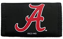 Alabama Crimson Tide Nylon Trifold Wallet