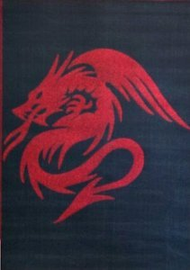 Dragon Style Area Rug 4 Ft. X 5 Ft. 2 In. Black # 133 front-70319