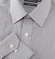 2in Longer Cotton Rich Non-Iron Striped Shirt