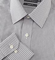 "2"" Shorter Cotton Rich Non-Iron Dotted Striped Shirt"
