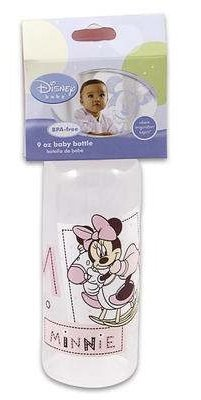 Mickey & Minnie 9oz Baby Bottle BPA Free (Pink)