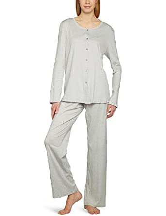 Hanro Women's Tonight Pajama Set, Feather Grey, X-Large