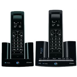 BT Stratus 1500 Twin DECT Telephone & Answering Machine - Black image