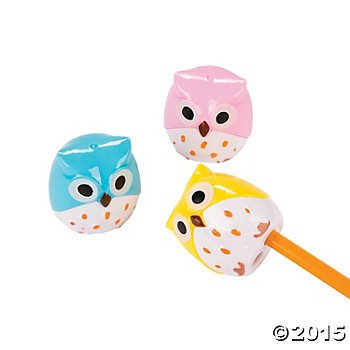 6 Owl Pencil Sharpeners/SCHOOL/CLASSROOM/TEACHER Supplies - 1
