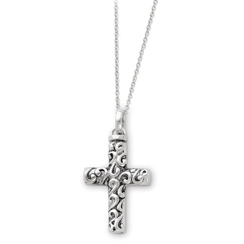 Sterling Silver Cross Ash Holder Sentimental Expressions Necklace