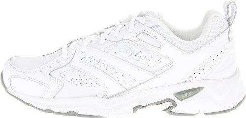 Fila Women's Capture Running Shoe,White/White/Metallic Silver,9 M US