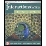 img - for Interactions Access: Listening/ Speaking - With CD book / textbook / text book