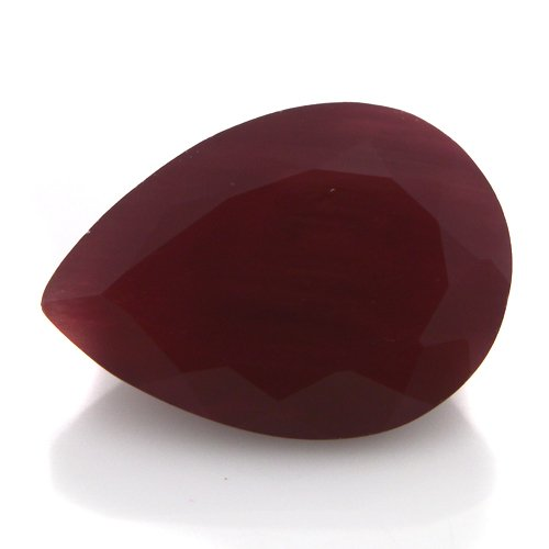Natural Africa Red Andesine Loose Gemstone Pear Cut 10*7mm 2.25cts VS Grade