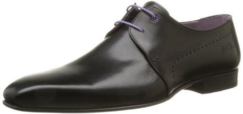 BKR Men's Sato Lace-Up Flats Black Noir (Vitelo Black) 7 (41 EU)