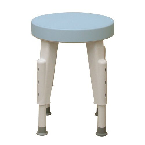 Ableware 727152100 Rotating Shower Stool, Adjustable Legs