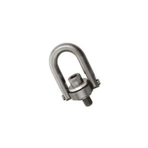 Jergens 23425 Black Oxide Alloy Steel Center Pull Standard U-Bar Hoist Ring, 1