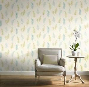 Gran Deco Fern Wallpaper - Teal by New A-Brend