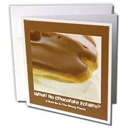 Susan Brown Designs Dessert Themes - Chocolate Éclair - Greeting Cards-12 Greeting Cards with envelopes