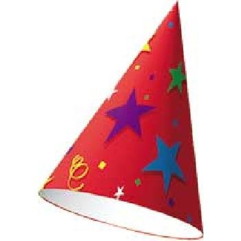 Birthday Stars Cone Hat - 1