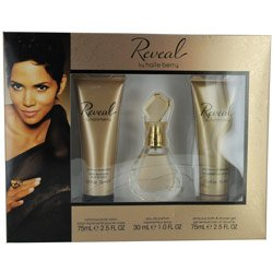 HALLE BERRY REVEAL by Halle Berry SET EAU DE PARFUM SPRAY 1 OZ and BODY LOTION 2 5 OZ and SHOWER GEL 2 5 OZ for WOMEN