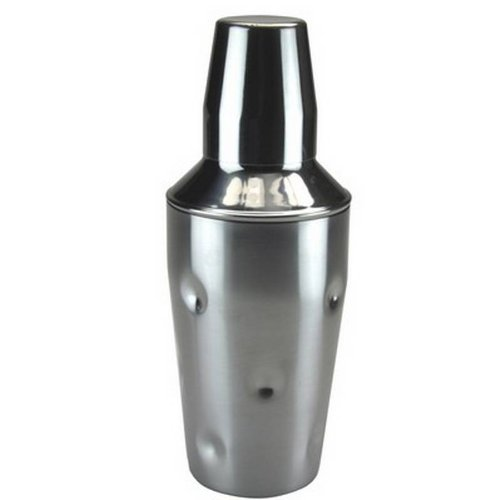 3 Piece Cobbler Style Stainless Steel Cocktail Shaker 500ml